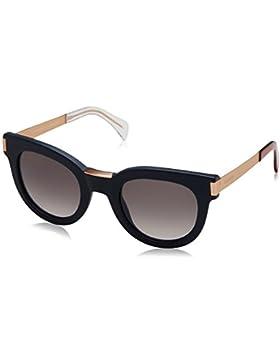 Tommy Hilfiger TH 1379/S EU, Gafas de Sol Unisex, Blue Gold, 49