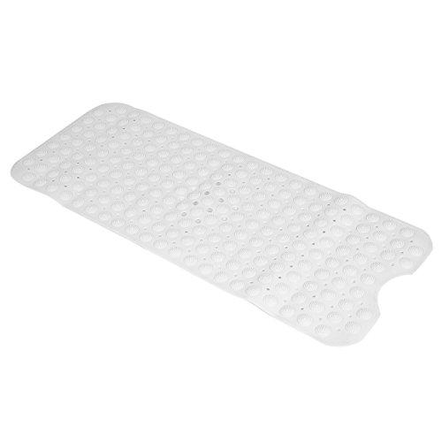 Anti-Slip Badematte PVC Sicherheit Extra Lange Badewanne Matten für Bad mit Saugnapf Antibakterielle Badewanne Matte 100 * 40 cm (weiß)