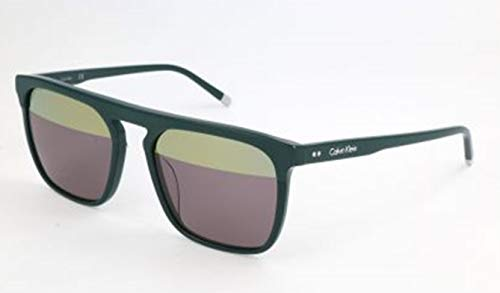 Calvin Klein CK Herren CK4351S 317 56 Sonnenbrille, Dark Green,