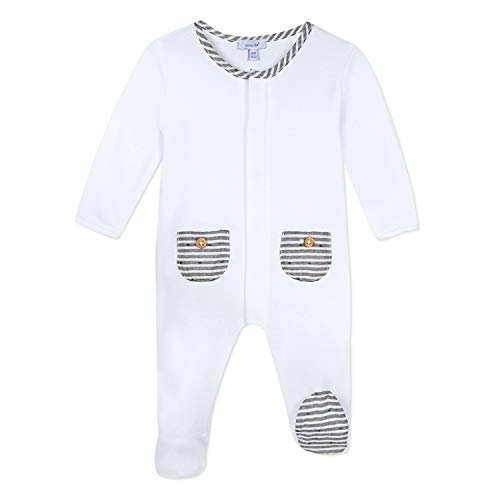 Absorba 9N54001 Playwear Pyjama, Gris (Elephant Color 23), Naissance (Taille Fabricant:1M) Mixte béb