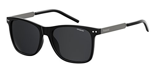 Polariod Polarized Square Unisex Sunglasses - (PLD 1028/S 003 55M9|55|Grey Color) image
