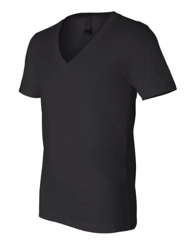 Bella+Canvas: Unisex Jersey Deep V-Neck T-Shirt 3105 Schwarz