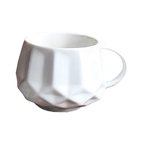 SYXng Flachmänner Hauptkaffeemilch-Frühstücksschale Der Einfachen Und Kreativen Keramischen Tasse A