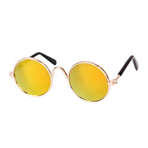 Etophigh Haustier Brille Katze Sonnenbrille Hund Sonnenbrille Persönlichkeit lustige Kopfbedeckung Trend Haustier Zubehör Katze Brille
