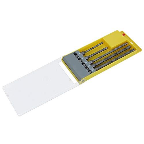 Preisvergleich Produktbild 5 Stücke 5 / 6 / 6 / 8 / 10mm Robuste Linie Hammerbohrer Set Für Edelstahl Holz Kunststoff Aluminium Cutter Mit Box