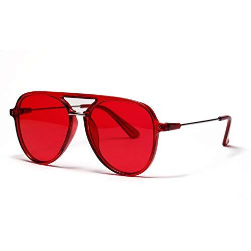 Yuanz Halbmetall Sonnenbrille Männer Frauen Marke Flat Top Schwarz Rot Shades Für Frauen Weibliche Uv400,Q.