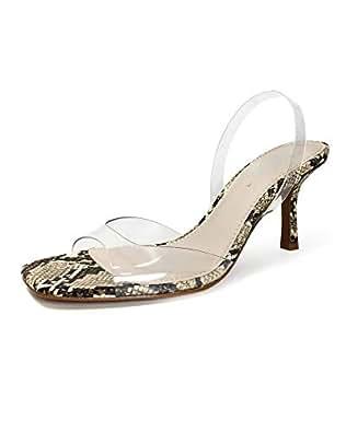 5ff90b3f2799a Zara Women's Vinyl Animal Print Heeled Sandals 2336/001: Amazon.co ...