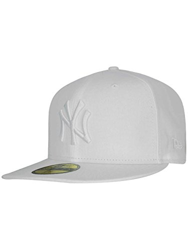 New Era Mlb Basic Ny Yankees 59fifty Fitted, Casquette Visières Homme Blanc