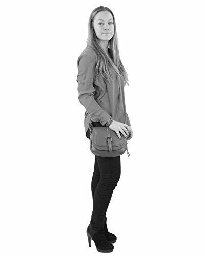histoireDaccessoires - Borsa a tracolla Pelle Donna - SA005114RE-Bambino Rosso scuro