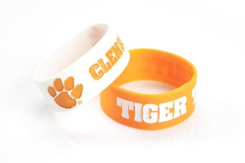 NCAA Silikonkautschuk Armband, 2er Pack, Damen Kinder Herren Unisex, CCP-BC-207-06 Clemson Band