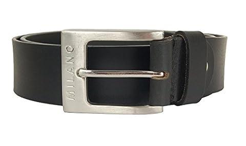 Milano Mens Full Grain Leather Belt - 1.5