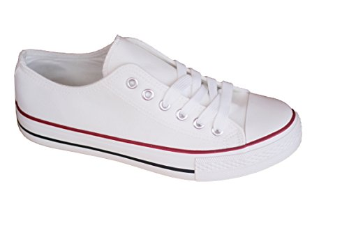 Zapatillas-Canvas-de-Lona-Unisex-Mujer-Hombre-Estilo-Casual-y-Deportivo-Color-Blanco