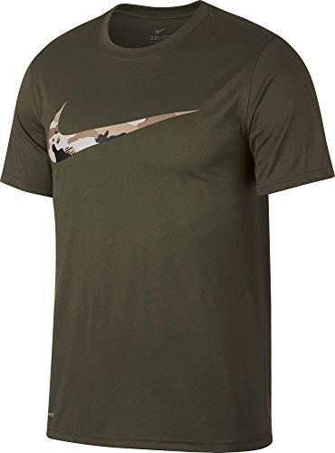 Nike M NK Dry Leg Tee CAMO SWSH T-Shirt, Herren Mehrfarbig (Olive Canvas/Desert Sand) -