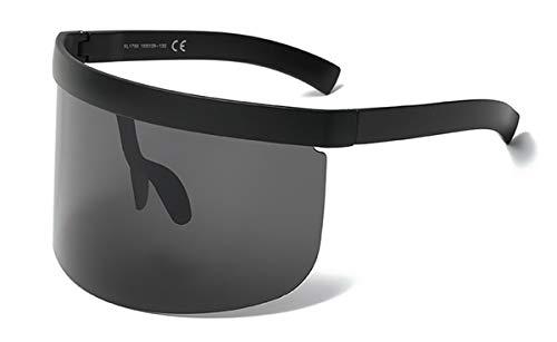 CQYYDD Schwarz Riesige Übergroße Sonnenbrille Uv400 Herren VintageLinse Gelb Rot Große Sonnenbrille Für Damen Winddicht wie abgebildet in Fotoschwarz