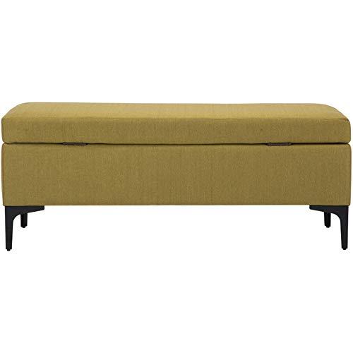 Velliceasay Schemel Vintage,Design Polsterhocker,Kleiner,moderner Design Hocker,Nordic Stoff Sofa Home Storage Bett Schwanz, Ingwer 80CM (Hanf) - Sockel-storage-bett
