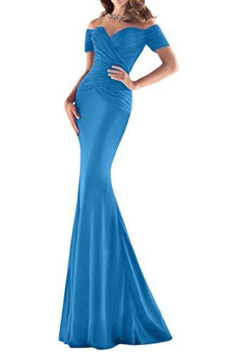 ivyd ressing robe sexuellement ligne de courte aermel Étui Party Prom robe robe du soir Bleu