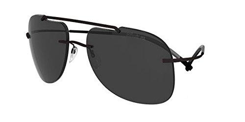 Preisvergleich Produktbild Silhouette - EXPLORER 8665, Pilot (tropfenförmig), allgemein, Herrenbrillen, BLACK/GREY POLARIZED(6200 B)