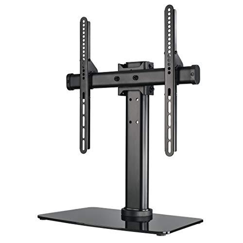 Klar, Schwarz-tv-ständer (Hama TV-Ständer, neigbar, drehbar, vollbeweglich (für Fernseher von 81-140 cm/32-55 Zoll, höhenverstellbar, Grundplatte aus Glas, bis 30 kg, VESA bis 400x400) Fernsehständer, TV-Standfuß, schwarz)