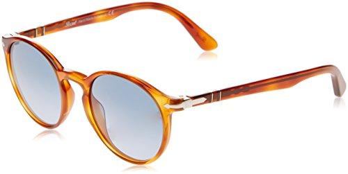 Persol Herren 3171 Sonnenbrille, Braun (Terra Diiena/Azure Blue), 49