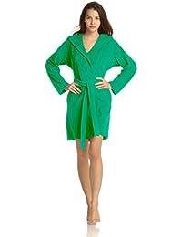 Vossen Damen Body Shape Bademantel in grün, rot, pink und türkis