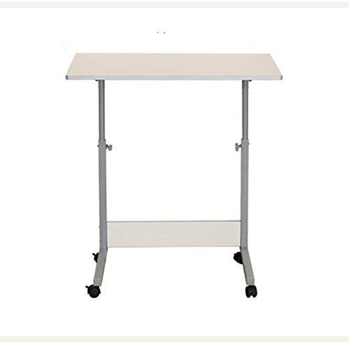 AFDK Abnehmbare mobile Stehpult/höhenverstellbarer Computerarbeitsplatz Rollende Präsentation Cart-Learning Desk Student Desk (Weiß Lose),80 * 40 cm