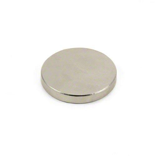 Magnet Expert® F355-1 35mm de diamètre x 5mm d'épaisseur - aimant néodyme n42-13,9 kg d'attraction (paquet de 1), Argent