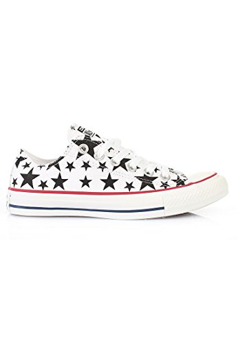 Converse Chuck Taylor OX White Black Womens Trainers White/Black/White