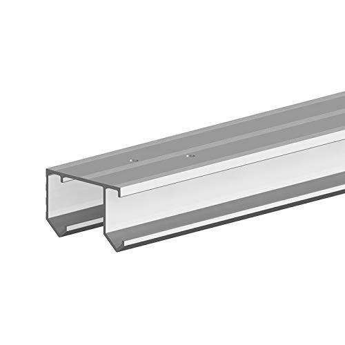 Aluminium-Doppellaufschiene 180 cm zur Ergänzung von SLID\'UP 110 Schiebetürbeschlag