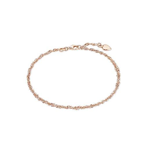 Fußkette rosé Sommerschmuck - 925 Silber rosévergoldet