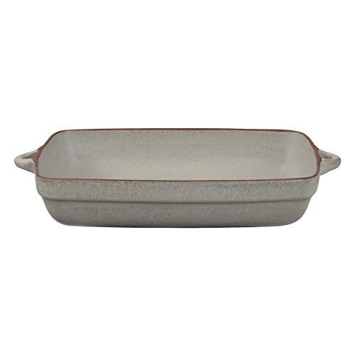 Jamie Oliver Rustic Italian Auflaufform, Lasagneform, Gratinform, Backform, Steingut, Marmorgrau, 37 x 23 x 7 cm, 556937