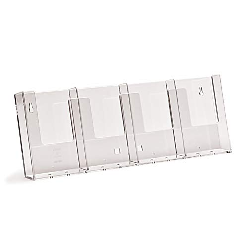 taymar DIN lang DL (1/3 A4) Wand-Prospekthalter mit vier Fächern