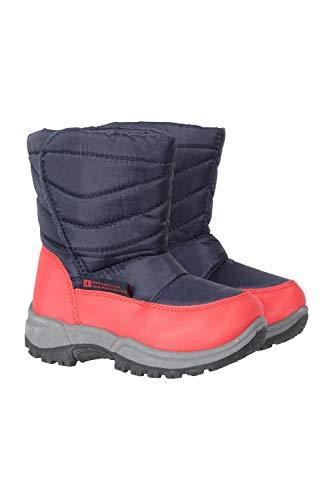Mountain Warehouse Botas de Nieve para niños Caribou Junior - a Prueba de Nieve, Forro Polar, cálido...