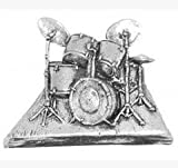 Boîte cadeau en étain pour musicien tambours musique cravate Épinglette/broche/Badge