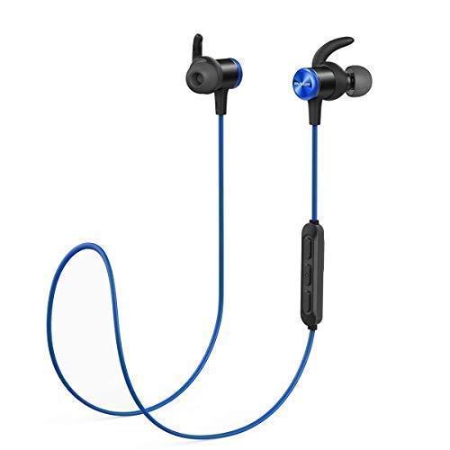 Soundcore Spirit Kabellose Bluetooth Kopfhörer, 8 Stunden Akkulaufzeit, SweatGuard Technologie, Federleichtes Design und bequemer Halt, für Sport und Workout (Blau)