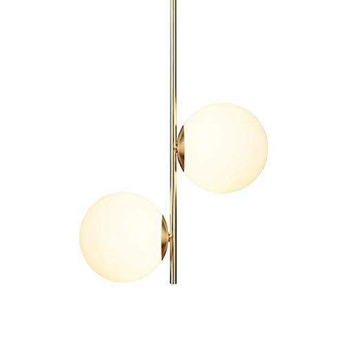 Lámpara De Techo Moderna Araña De Luces, Lámpara De Iluminación Moderna Cocina G9 Bar Café Decoración Infantil Sala De La Lámpara De Sobremesa-Gold 32X62cm
