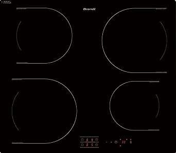 Brandt TI112B Table de Cuisson Induction 58 cm Noir