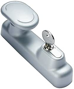 Fapim - Poignee exterieure seule a bouton 8585i - Finition.Alu RAL 9006 -