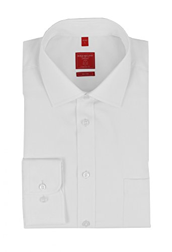 Michaelax-Fashion-Trade - Chemise business - Uni - Col Chemise Classique - Manches Longues - Homme Weiß(0)