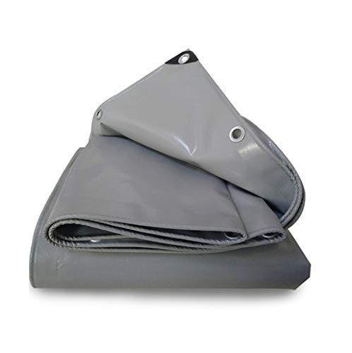 Graue Plane Regen Tuch Leinwand Starke Heavy Duty Tarps PVC Wasserdichte Auto LKW Kunststoff Folie Abdeckungen für Möbel Im Freien (größe : 4mx4m) -