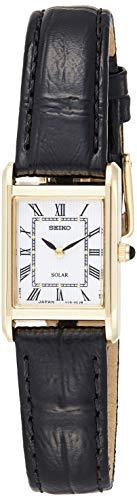 Seiko Unisex-Uhr Analog Quarz mit Lederarmband - SUP250P1