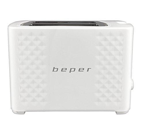 BEPER Tostadora BT.100B Color Blanco, Ranura XXL, 6 Niveles, 750W, 750 W, 0 Decibeles, 2