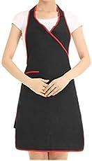 Yyanliii Spaß Personalisierte Frau Kleid hängende Hals Arbeits Schürze mit Taschen für Kellnerin (schwarz)