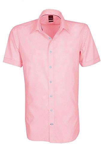 Michaelax-Fashion-Trade -  Camicia classiche  - Basic - Classico  - Maniche corte  - Uomo Rot (30)