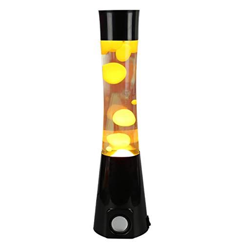 (Kreative Lava Waxing Lampe Flüssigkeit Paste Leichter Innovativer Dekoration Licht Quallen Licht kleines Nachtlicht für Schlafzimmer (gelb))