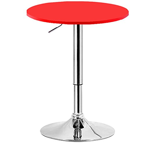 Woltu bt02rt tavolino da bar rotondo tavolo cucina in robusto mdf cromato altezza regolabile - Altezza tavolo da cucina ...