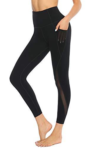 s damen schwarz Leggings Sport Damen Sporthose,undurchsichtig adidas leggings damen mit Taschen Yogahose Schwarz M ()