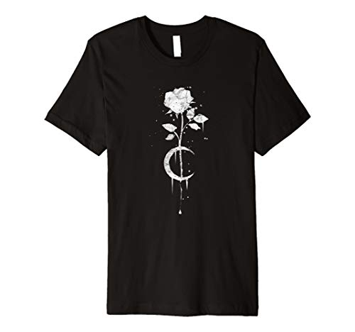 Rose-hexe (Occult Vintage Moon Rose - Witchcraft Okkult Hexe T-Shirt)