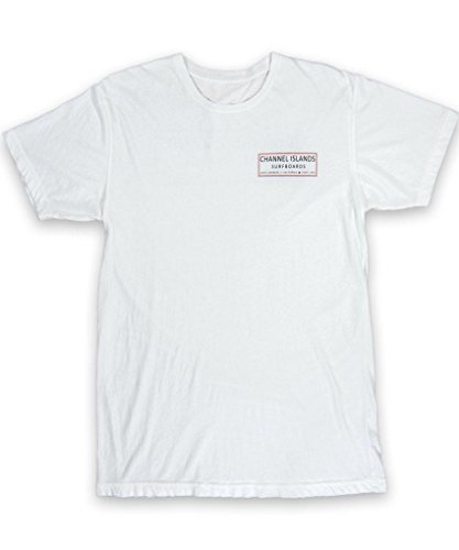 Channel Islands Surfbretter, Reinigen Logo T-Shirt, weiß, Größe S (S/s Shirt Surfboard)