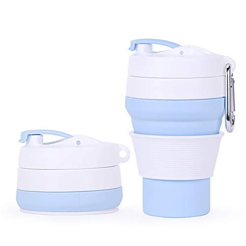 LIWEIL Faltbare Silikon-Kaffeetassen 350ml Travel Portable Collapsible Water Cup im Freien Teleskop-Drink