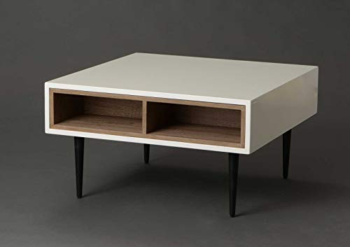 Adept Home Table Basse Carré en Bois Collection Korb